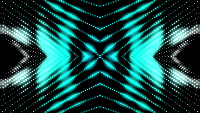 Blue ultra color luminous carnival mask. Digital and futuristic pattern. Light spots glowing in kaleidoscope style. Eyeholes animated background. Seamless abstract cyber face motion graphic.  | Shutterstock HD Video #1046585803