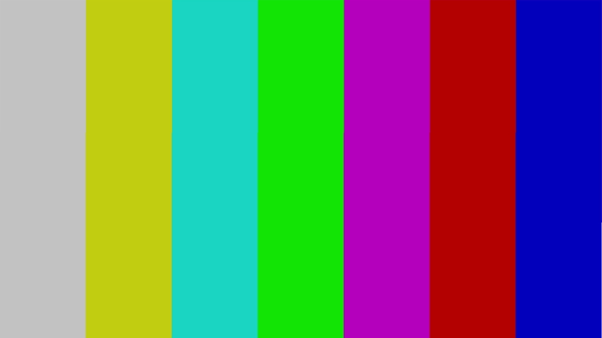 Bars And Tone. Colorful Lines To Test The TV Color Bars And Test Tone. screensaver No Signal | Shutterstock HD Video #1046873803