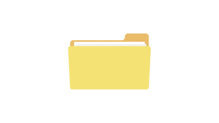 Video animation of a document folder or file with a chain - data security and protection | Shutterstock HD Video #1047073633