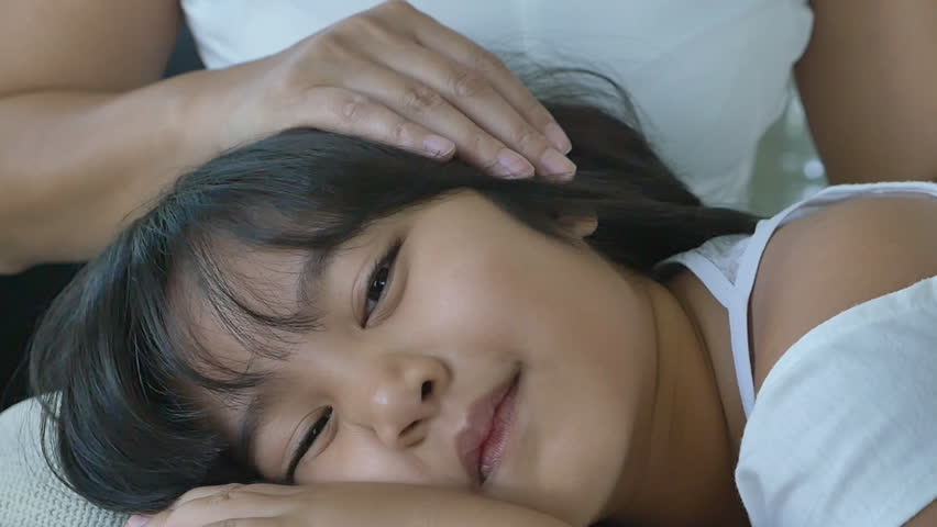 Happy Little Asian Girl Sleep Stock Footage Video (100% Royalty-free)  10484123 | Shutterstock