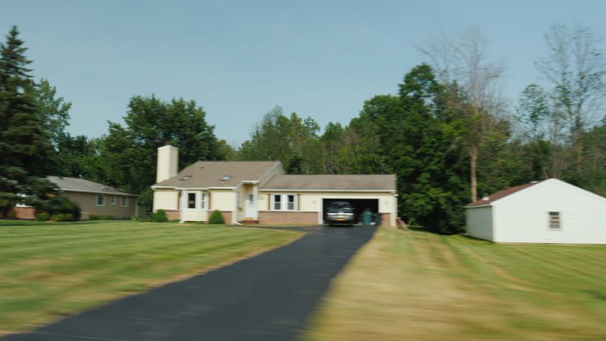 Drive along a typical American neighborhood | Shutterstock HD Video #1048906993