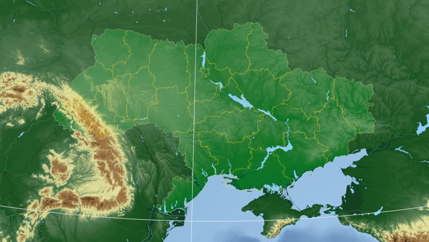 Guyana Shape Animated On The Relief Map Of The Globe Stock Footage