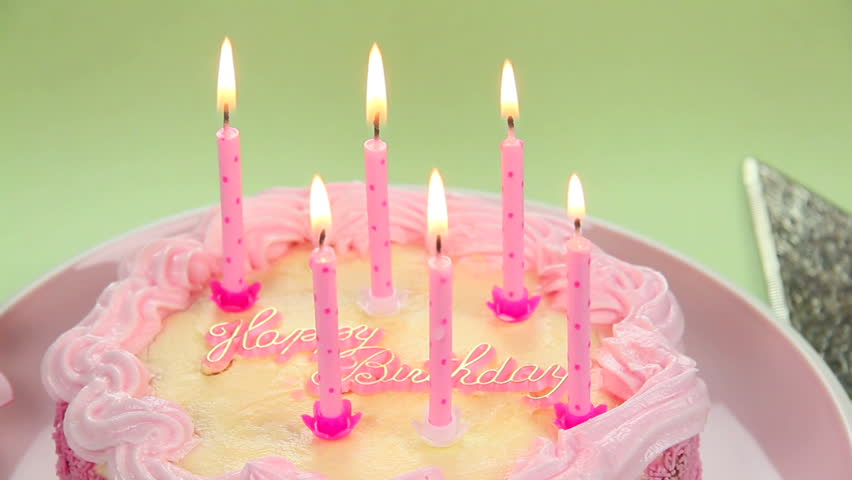 A Beautiful Cake With Light Candles To Blow Out Wishing You Happy Birthday