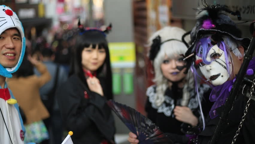 TOKYO, JAPAN - August 2014: Anime, manga costume. Harajuku, Tokyo - Japan.