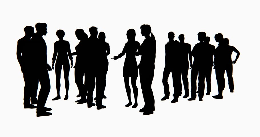 People Consultation Silhouette Stock Footage Video 344566 ...