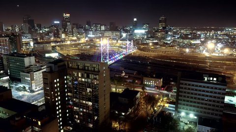 Johannesburg City time lapse, from a rooftop on the outskirts of the city. shot in June twenty fifteen.