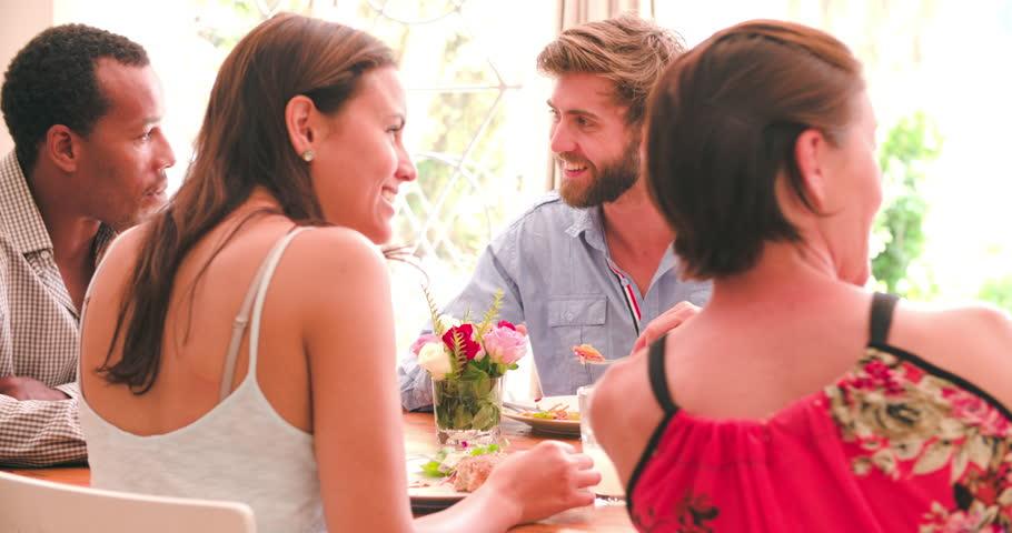 yummy ladies are having dinner and enjoying lesbian threesome  83767