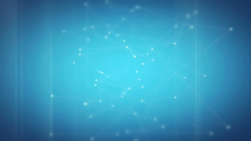 Looping background composed out of lines and dots on blue background. Symbolic of networking, communication and connection. | Shutterstock HD Video #10720343