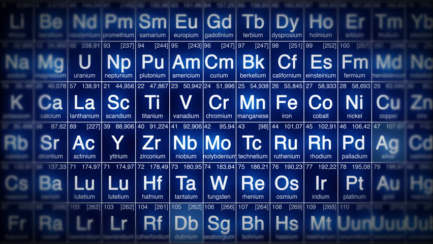 Periodic table perfect loop background loopable blue white or periodic table perfect loop background loopable blue white or red 4k ultra hd perfect loop of periodic table of elements animation urtaz Images
