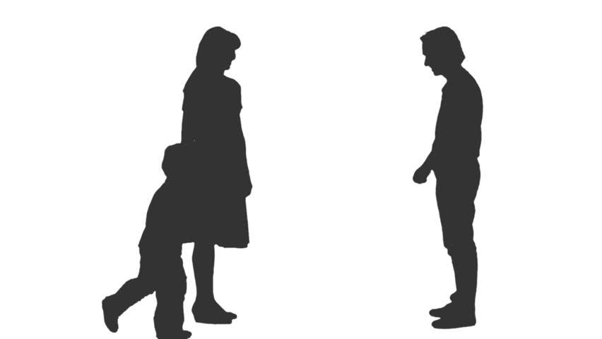 people standing side silhouette wwwpixsharkcom