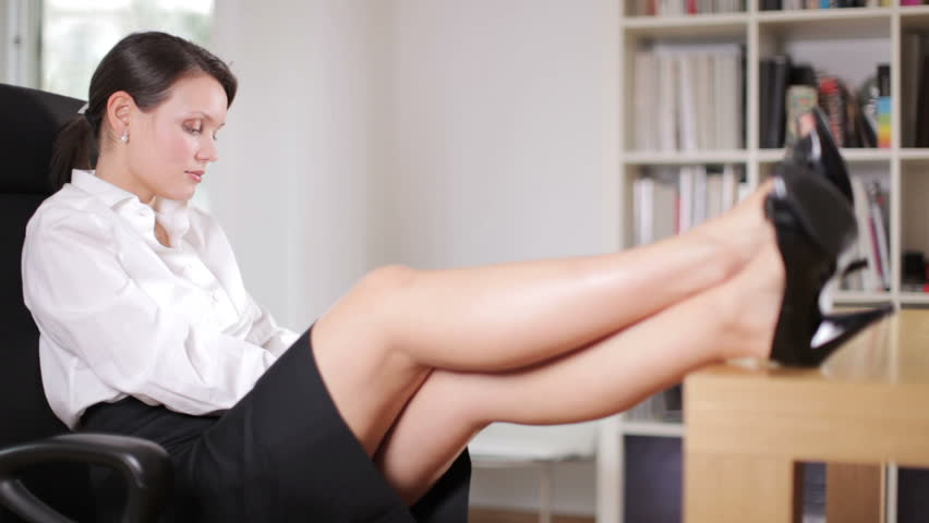 Stock Video Of A Pretty Businesswoman In Officework -6676