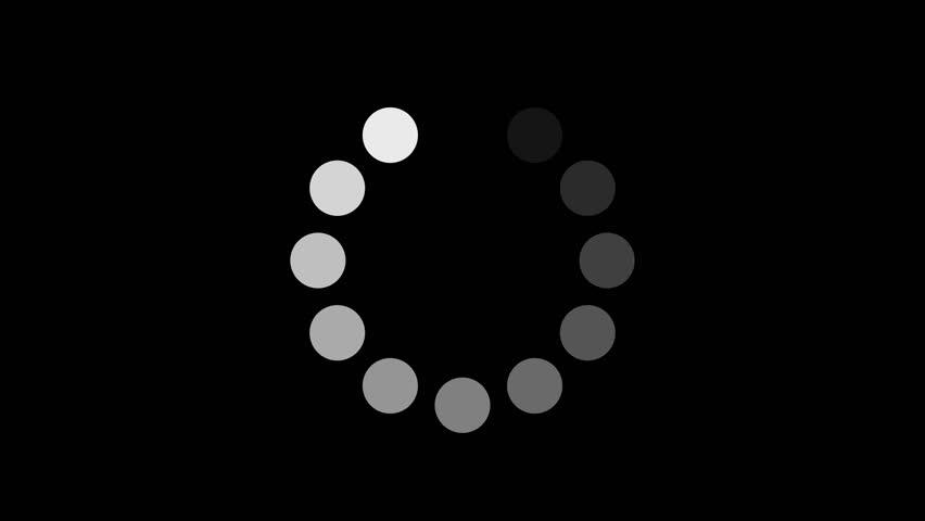 Loading circle 4K #10739093