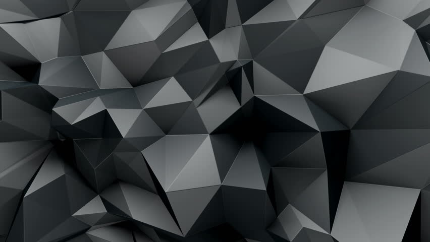 3d Abstract Geometric Background With Sharp Spikes With