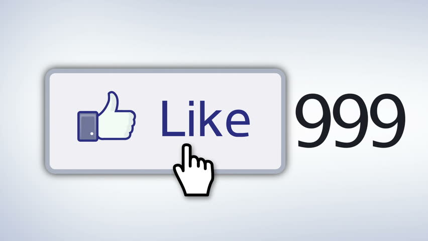 Facebook like button with single mouse cursor clicking like