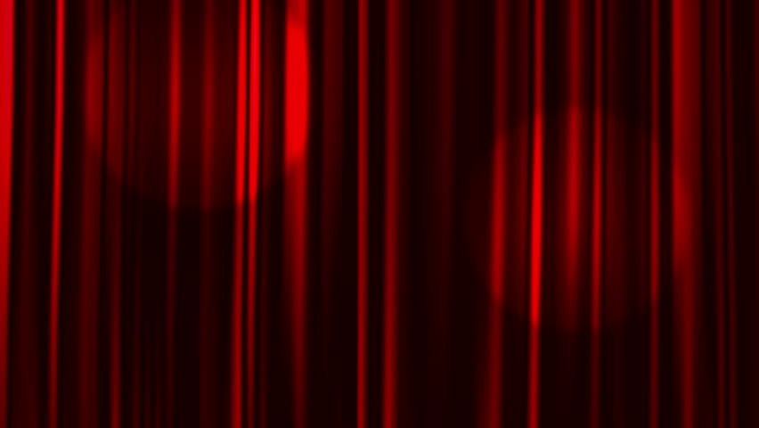 Red Curtains Open with Spotlights plus Alpha Matte | Shutterstock HD Video #10836293