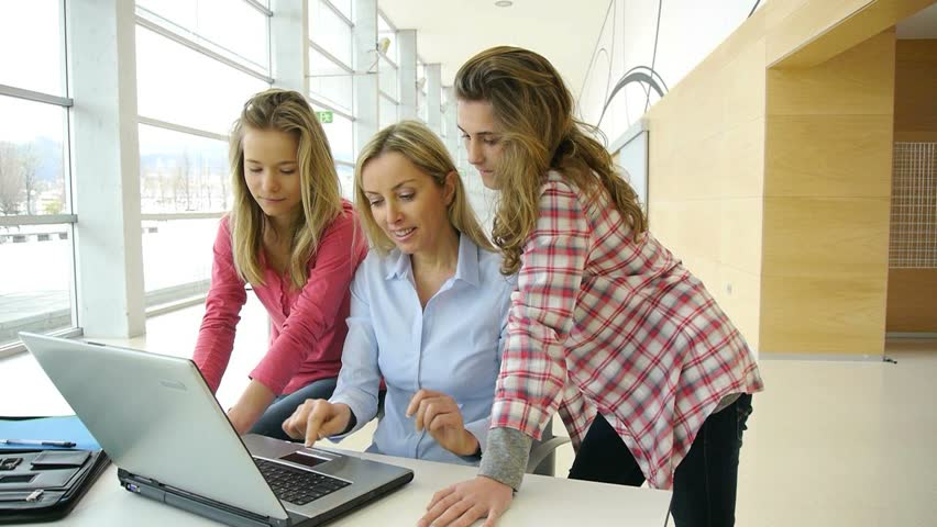 Students and teacher in training course   Shutterstock HD Video #1084714