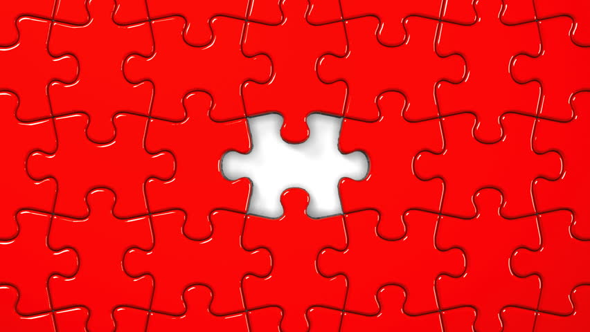 red jigsaw puzzle stock footage video 10852430 shutterstock