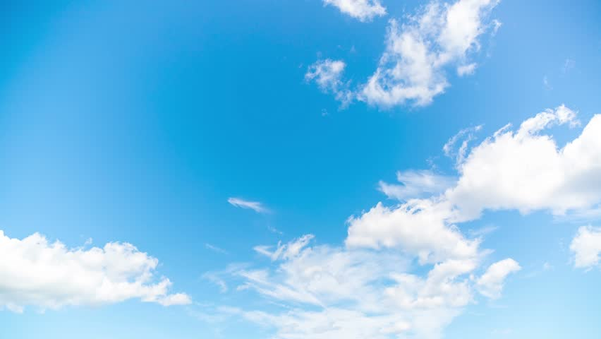 Time lapse blue sky with clouds #10869683