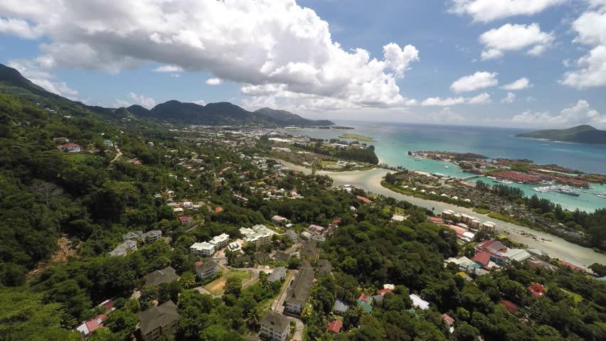 Seychelles Mahe Island from the Air