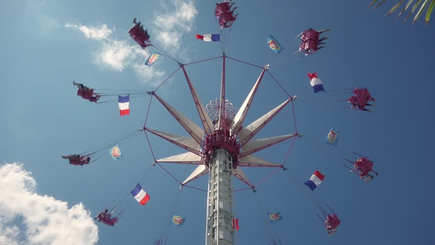Midway Rides At Calgary Stampede Stock Footage Video