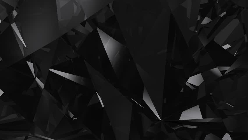 Abstract black diamond loopable UHD background