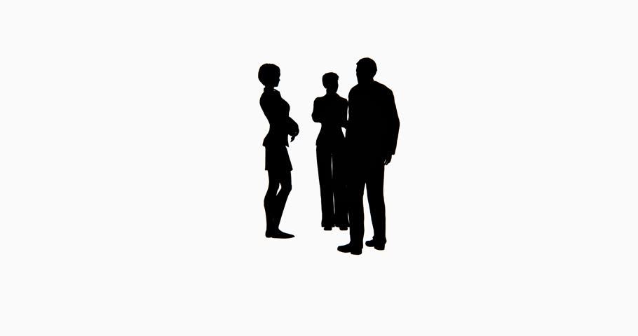 4k Business People Silhouette Talking. Cg_02751_4k Stock ...