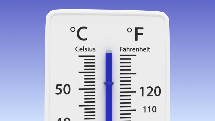 animated thermometer with the temperature going down and