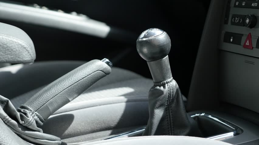 stock video of manual transmission and hand brake stick 10985792 rh shutterstock com video how to drive manual transmission car video driving manual transmission