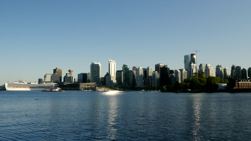 Vancouver - Skyline / Waterfront - 24P - ProRes 4:2:2 10 Bit - UHD 4K  A view of the Vancouver downtown skyline and waterfront.  | Shutterstock HD Video #11016893