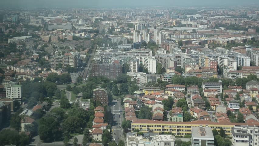 MILAN, ITALY   JUNE 15, 2015: View Of Milan From The Top Floor