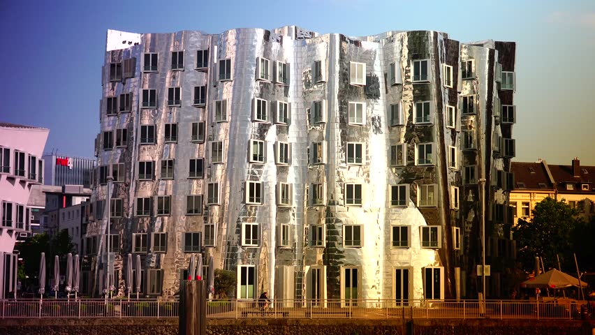 Famous American Architecture dusseldorf, germany - may 19, 2015: the buildings of neuer zollhof