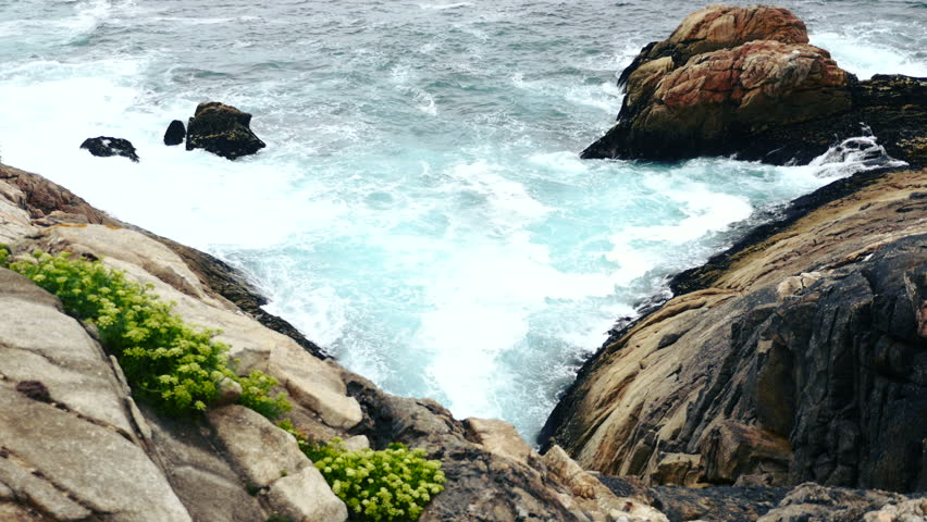 Atlantic Ocean from La Coruna, Galicia, Spain. Summer 2015. | Shutterstock HD Video #11039681