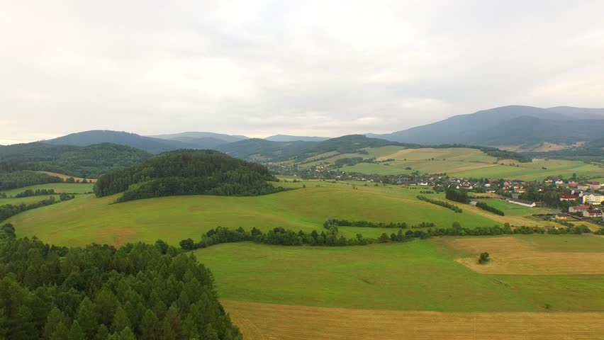 A beautiful aerial of green landscape #11106563