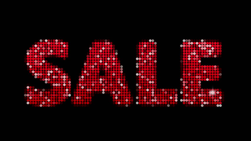 Sale animation with colorful confetti falling  alpha channel included