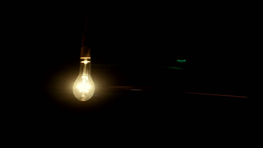 Real Light Bulb Turning On Flickering And Off Anamorphic Lens Fare