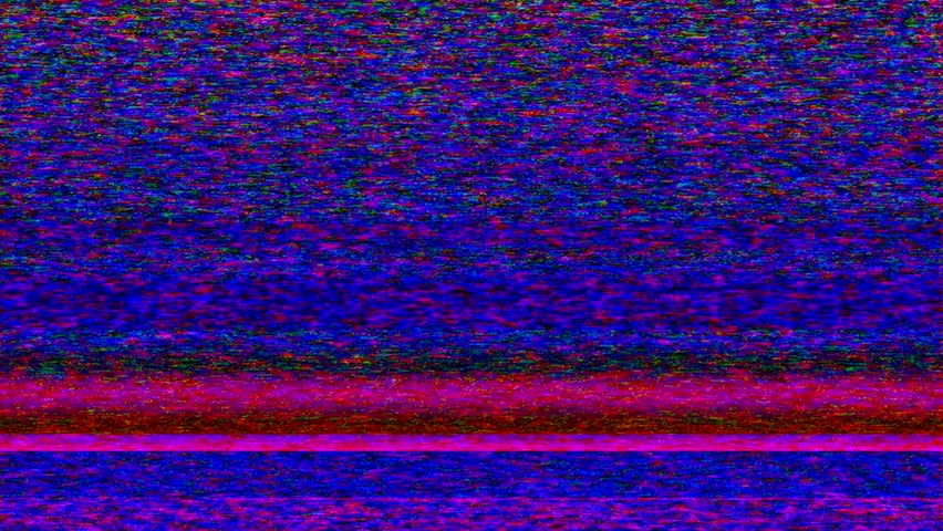 NTSC - Colorful TV Noise And TV Static Fill The Screen ...
