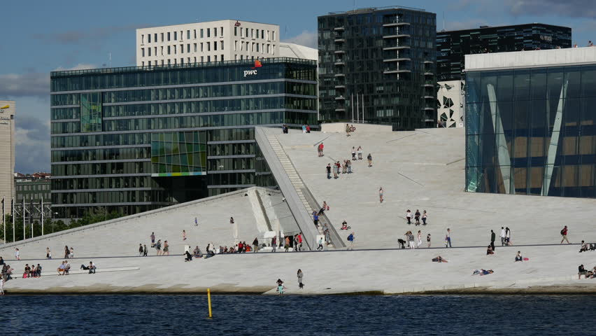 Close up from the Oslo Opera House in Norway