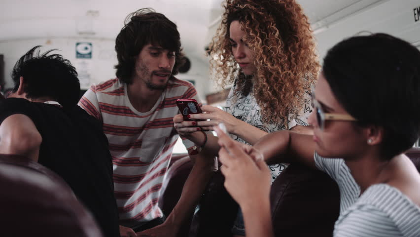 Image result for image of bus person with his phone