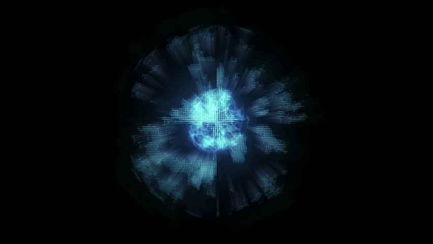 4k molecule sci-fi techno hologram rotating motion background | Shutterstock HD Video #11211323