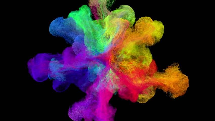 color explosion on black quotspectrumquot with alpha matte