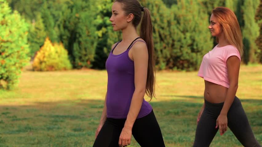 Sexy Girls Doing Yoga