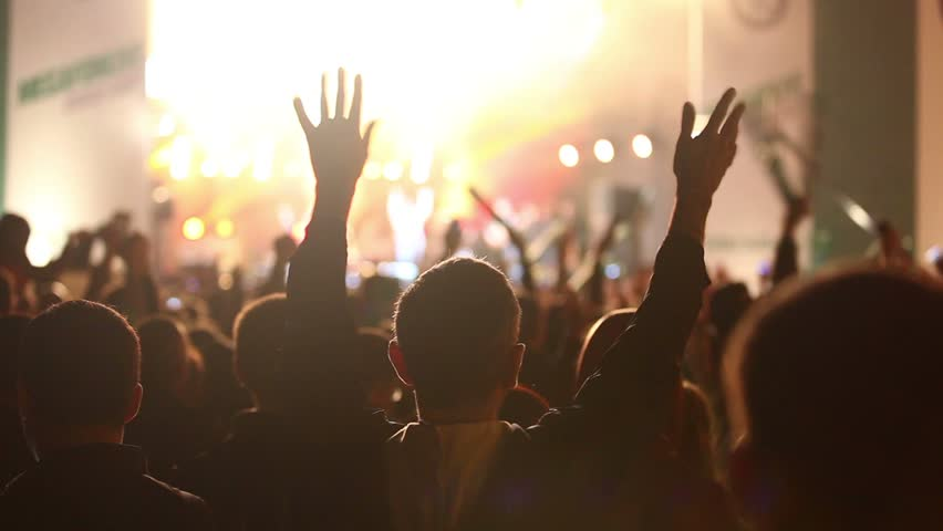 Crowd of fans at a concert. | Shutterstock HD Video #11351243