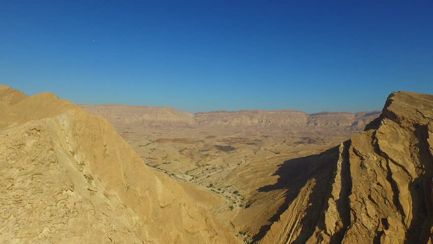STUNNING DESERT MOUNTAINS, ISRAEL - CIRCA MARCH 2015: Aerial of southern mountains.    Shutterstock HD Video #11358893
