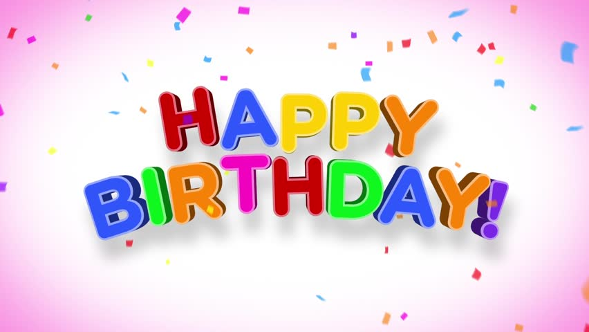 Happy Birthday Images Hd ~ Happy birthday 3d animation stock footage video 3845606 shutterstock