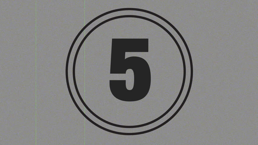 5 Second Countdown with a Stock Footage Video (100% Royalty-free) 114163 |  Shutterstock