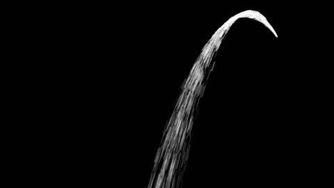 Flowing Water Stream in Alpha Matte