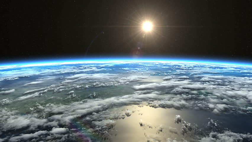 View From ISS Clip Contains Earth Sunrise