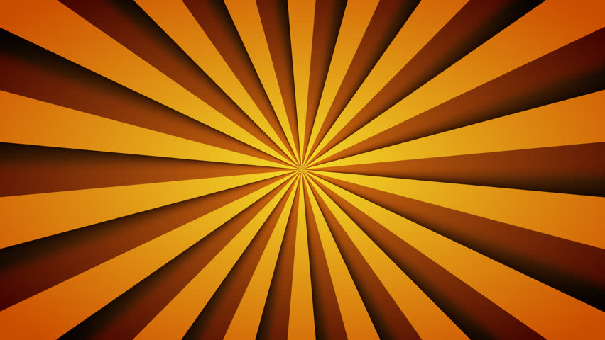 a seamless looping orange pinwheel background stock