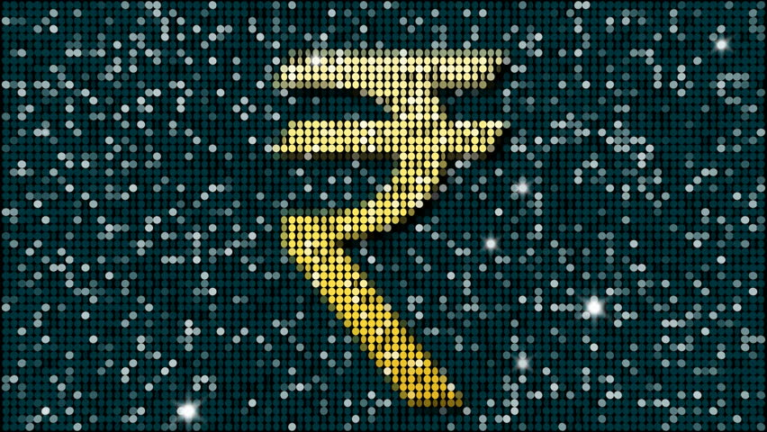 Stock Video Of Indian Rupee Symbol Loopable 11465153 Shutterstock