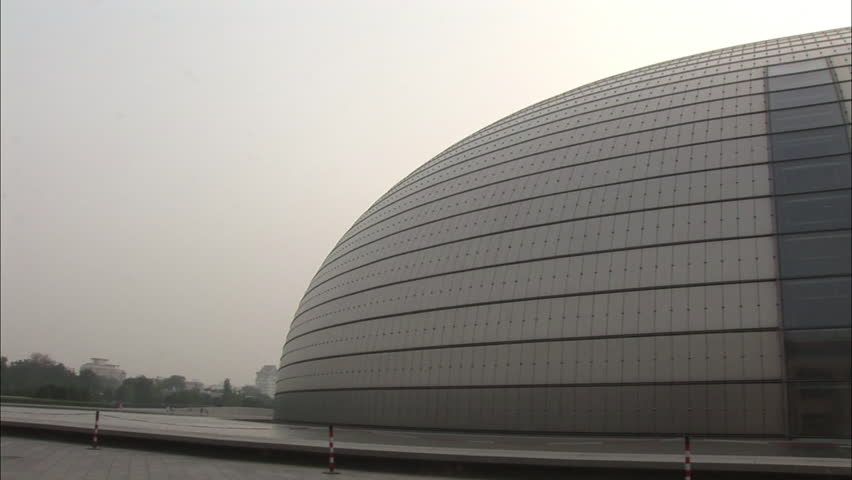 Modern Architecture Videos may 25,2015:beijing china national grand theatre in reflection in